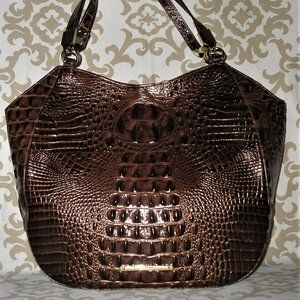 Brahmin Marianna Pecan Large Leather Bag